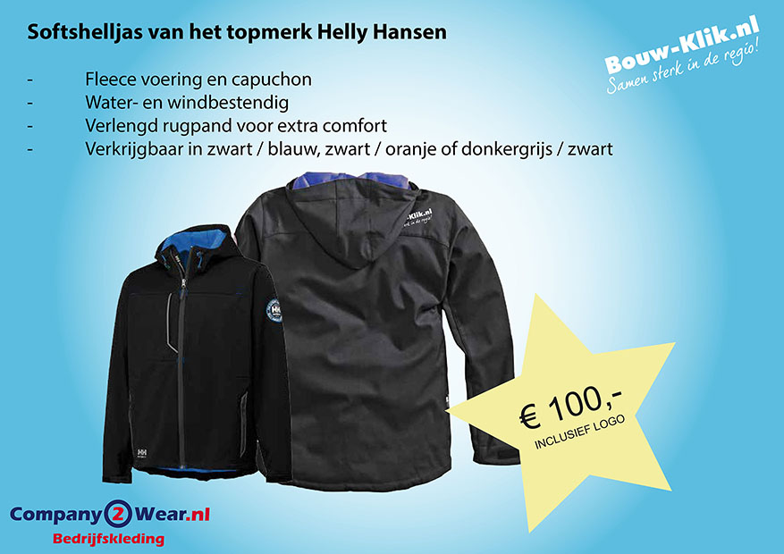 company2wear bouwklik hh softgel jas